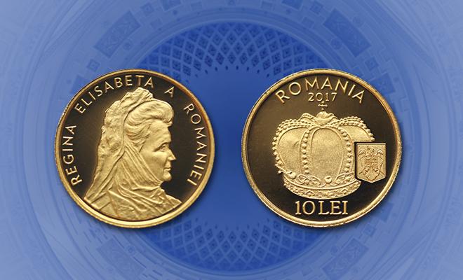Emisiune numismatică cu tema Istoria aurului – Coroana reginei Elisabeta a României