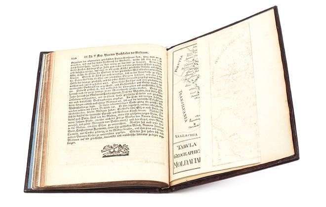 O ediție princeps a lucrării Descrierea Moldovei, de Dimitrie Cantemir, va fi licitată la Artmark