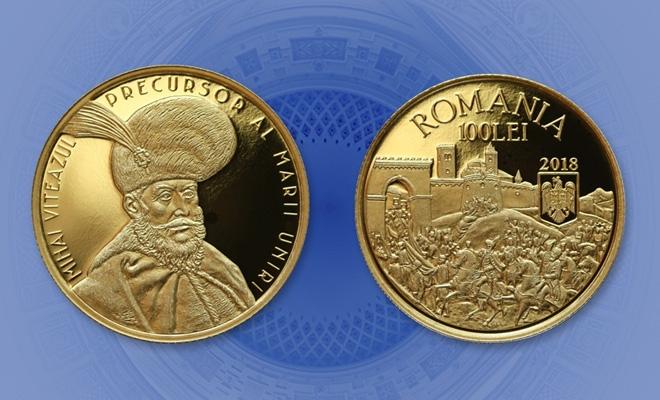 Emisiune numismatică cu tema Mihai Viteazul, precursor al Marii Uniri