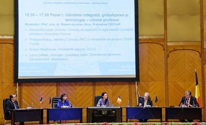 Panelul I – Gândirea integrată, globalizarea și tehnologia – viitorul profesiei