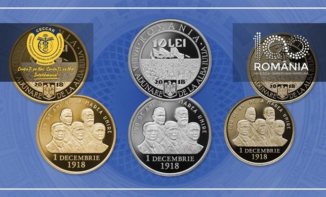 Emisiune numismatică dedicată împlinirii a 100 de ani de la Marea Unire de la 1 Decembrie 1918