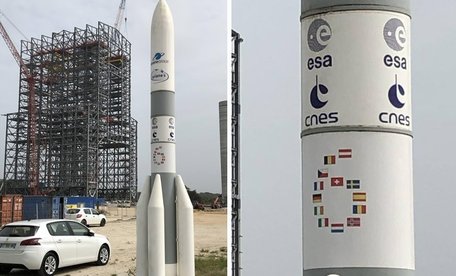 Drapelul României pe noua rachetă Ariane 6