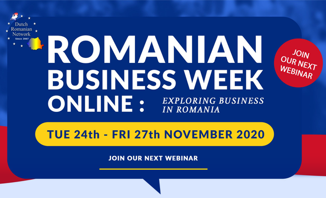 24-27 noiembrie 2020: Romanian Business Week: Exploring doing business in Romania