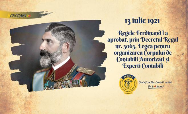 2021 – un secol de la reglementarea profesiei contabile în România. La mulți ani!