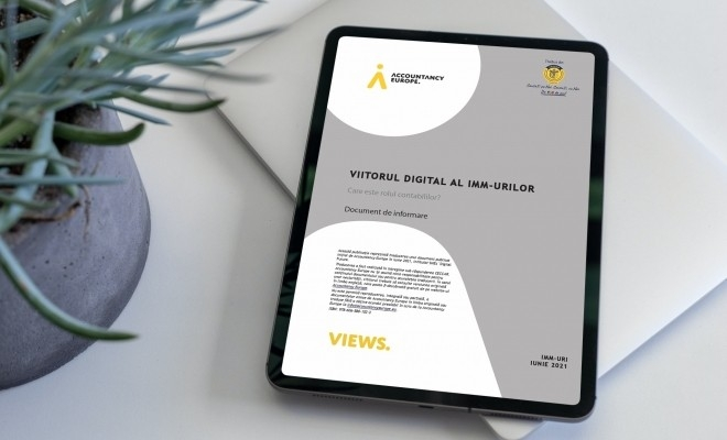 Viitorul digital al IMM-urilor și rolul contabililor în acest proces. Un document de informare marca Accountancy Europe, disponibil în limba română
