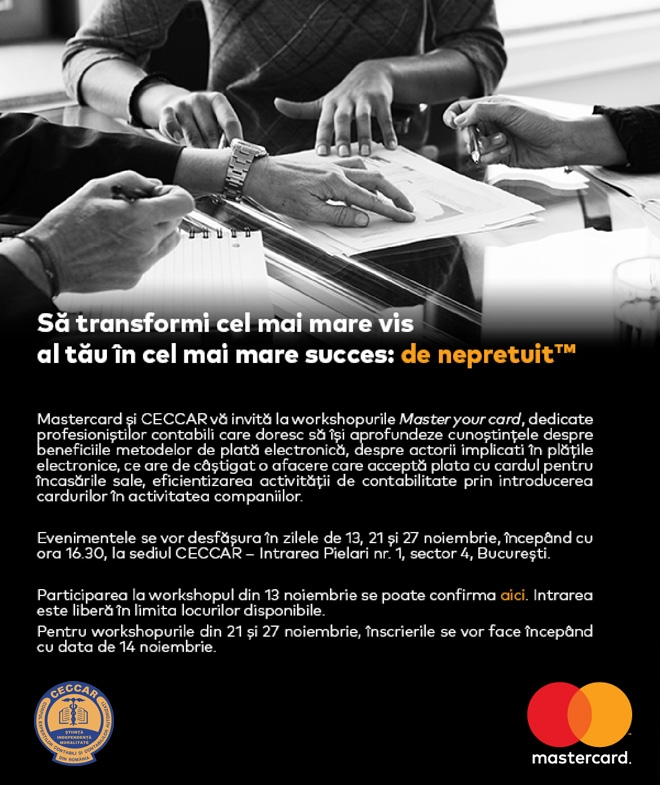 Workshop CECCAR-Mastercard: Master your card