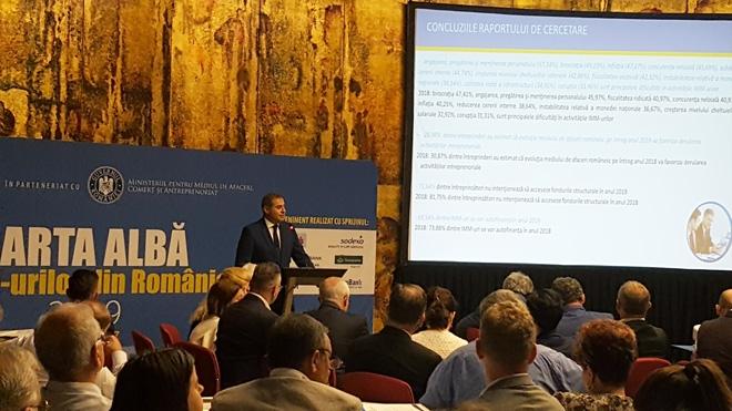 A fost lansată Carta Albă a IMM-urilor din România, ediția a XVII-a, lucrare realizată de CNIPMMR în parteneriat cu Ministerul pentru Mediul de Afaceri, Comerţ şi Antreprenoriat