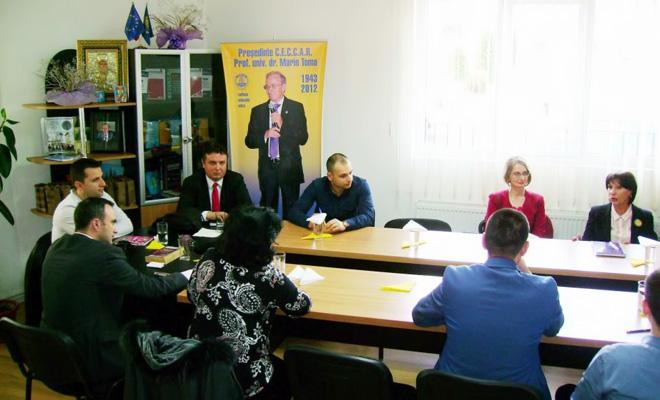 Întâlnire a conducerii filialei Dâmbovița cu reprezentanți ai IPJ