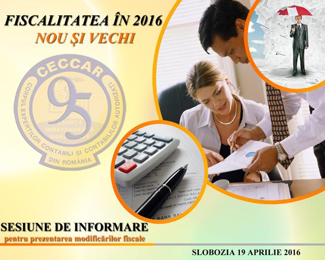 La Ialomița va avea loc o sesiune de informare privind aplicarea prevederilor Codului fiscal