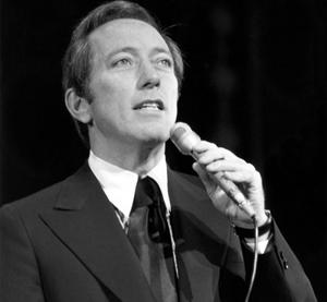 Williams în repetiții la London Palladium, înaintea spectacolului Royal Variety, în anul 1970