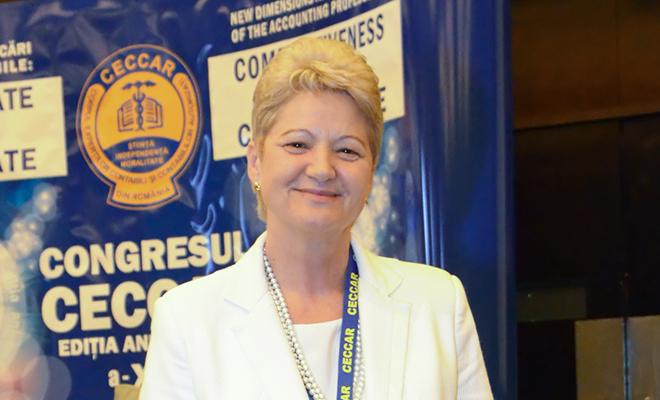 Ecaterina Necșulescu, fost președinte C.E.C.C.A.R, decan al Facultății de Științe Economice, Universitatea Danubius din Galați