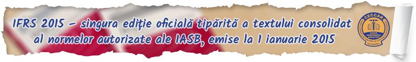 IFRS 2015- singura ediție oficială tipărită a textului consolidat al normelor autorizate ale IASB, emise la 1 ianuarie 2015