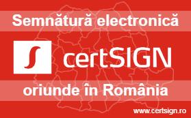 Semnătură electronică oriunde în România - certSIGN